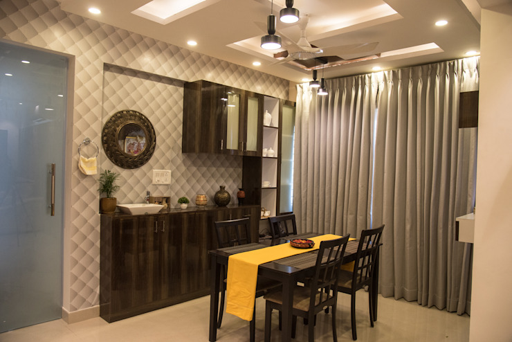 Modern Dining Room by Aikaa Designs Modern dining room by Aikaa Designs Modern