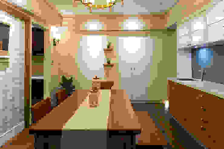 日光綠景 根據 松泰室內裝修設計工程有限公司 鄉村風 木頭 Wood effect