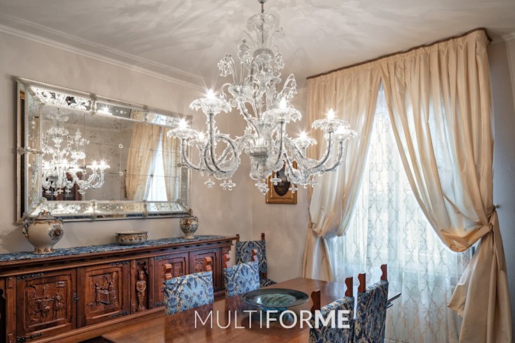 Villa Borghese chandelier Classic style dining room by MULTIFORME® lighting Classic