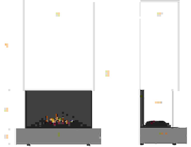Feuerstatement: modern  von muenkel design - Elektrokamine aus Großentaft,Modern