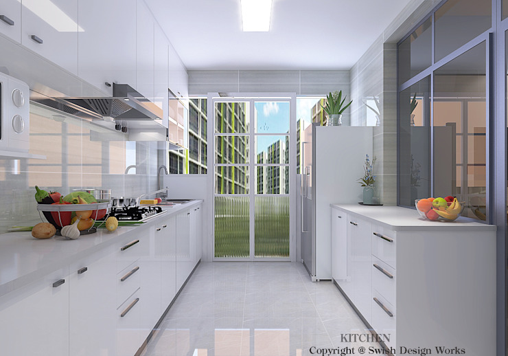 Kitchen cabinets by Swish Design Works Modern Quartz