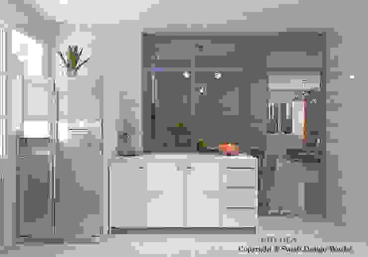 Semi open kitchen by Swish Design Works Modern Quartz