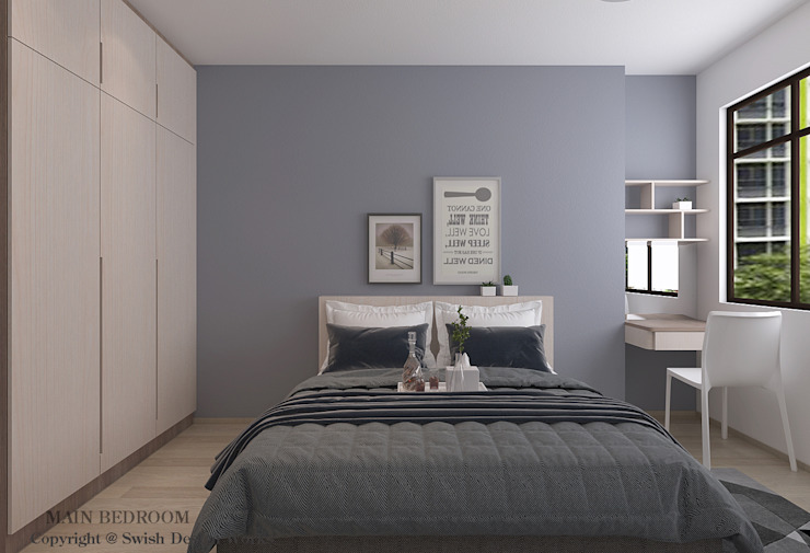 Master bedroom option 2 by Swish Design Works Modern Plywood