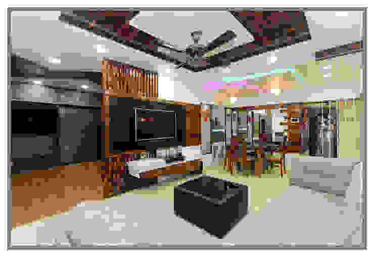 Gera South, Kharadi. Asian style living room by AARAYISHH Asian