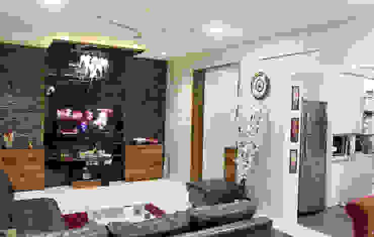Sobha Garnet, Parge Nagar. Modern living room by AARAYISHH (Mumbai & Pune) Modern