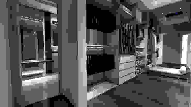 Vestidor y baño principal Vestidores de estilo moderno de Hito Arquitectura Moderno