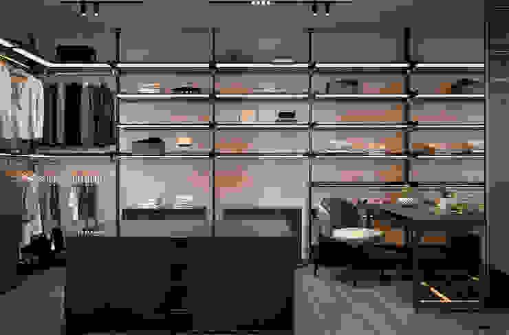 Vestidores y placares de estilo ecléctico de U-Style design studio Ecléctico