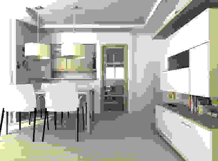 Diseño de salón para nuevas viviendas unifamiliares Comedores de estilo minimalista de eCa studio Minimalista Derivados de madera Transparente