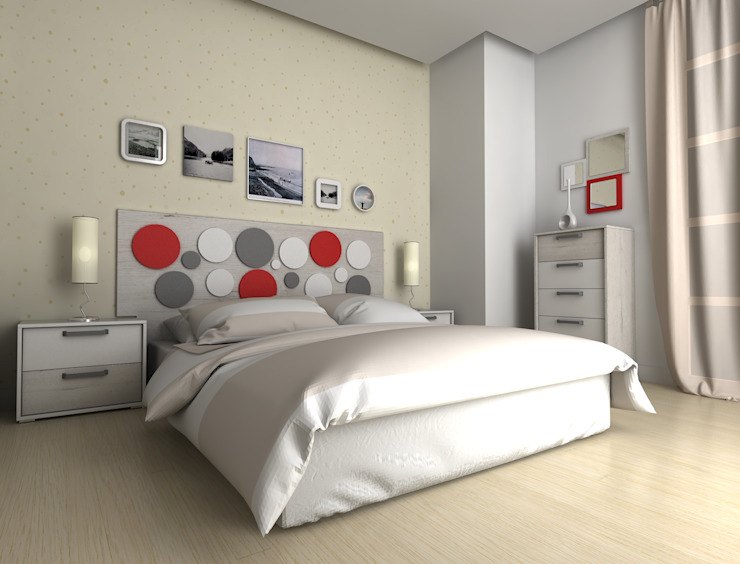 Diseño de dormitorios de vivenda y mobiliario de eCa studio Minimalista Contrachapado