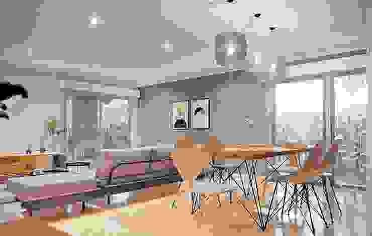 VIVIENDA 180 M2: Casas unifamiliares de estilo  por LGA CONSTRUCTORA,Clásico Hierro/Acero
