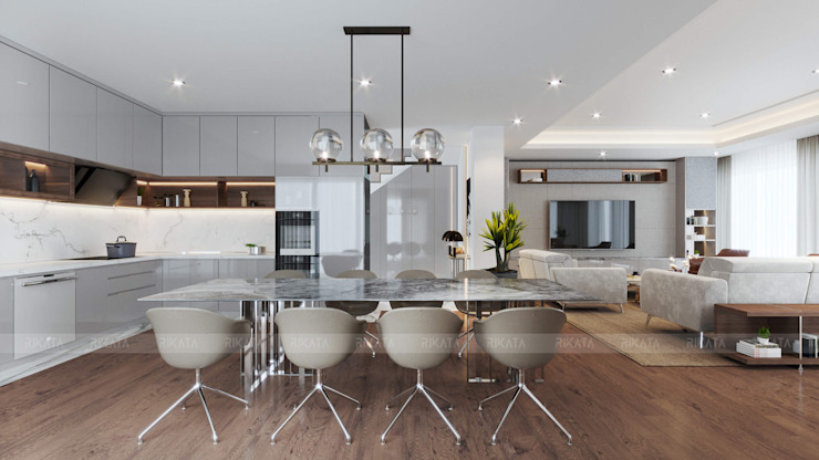 Modern kitchen by RIKATA DESIGN Modern