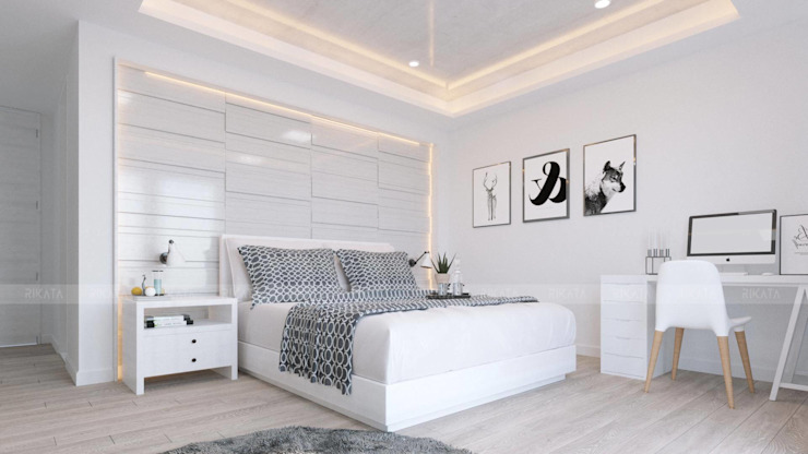 Scandinavian style bedroom by RIKATA DESIGN Scandinavian