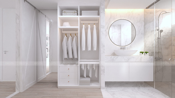 RIKATA DESIGN Scandinavian style bathroom