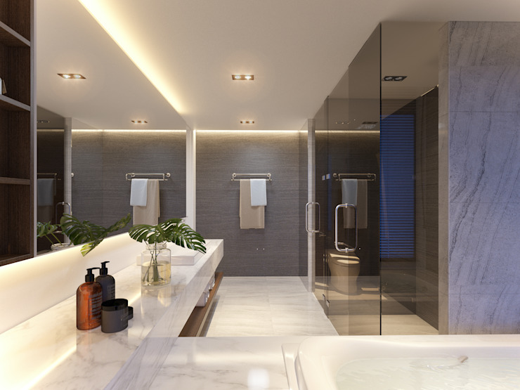 RIKATA DESIGN Modern bathroom
