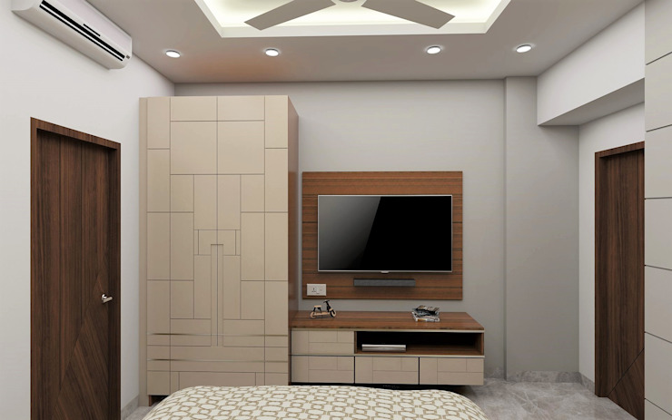 Swanky Impression- Guest Bedroom Modern style bedroom by Tanish Dzignz Modern
