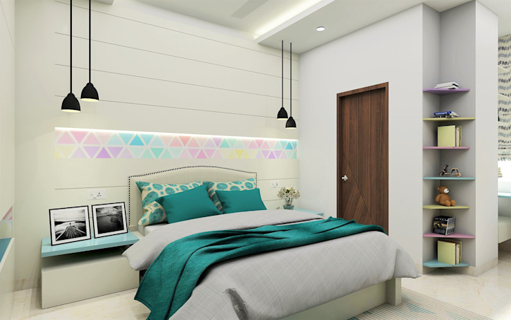 Teenage Girl Bedroom- lively and colourful Modern style bedroom by Tanish Dzignz Modern