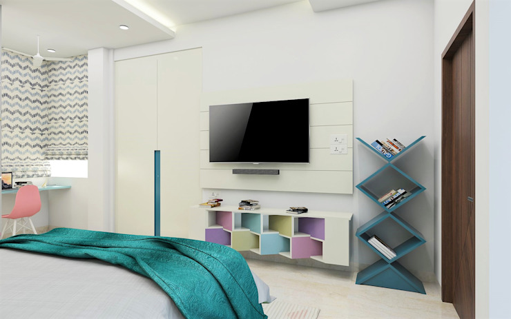 Teenage Girl Beroom- Modern Melody Modern style bedroom by Tanish Dzignz Modern