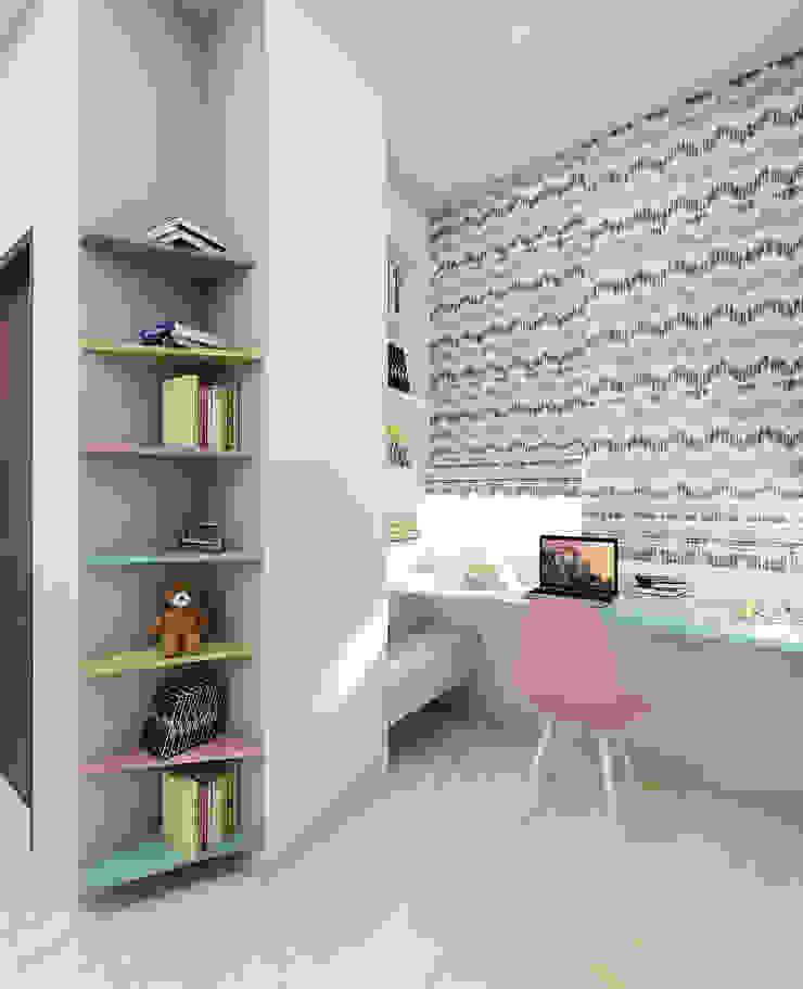 Teeange Girl Bedroom- Calm study corner Modern style bedroom by Tanish Dzignz Modern