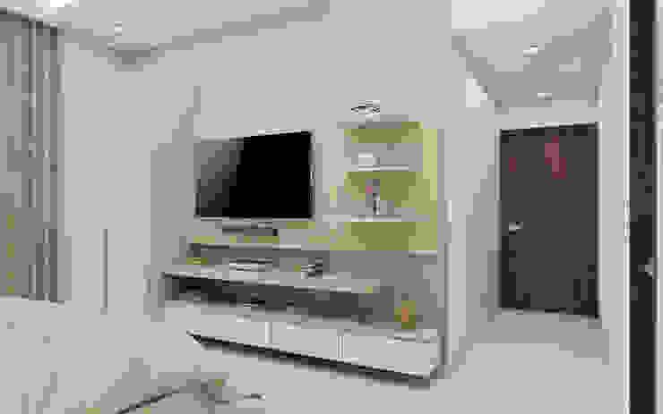 Master Bedroom- Modern Clean Minimalistic Modern style bedroom by Tanish Dzignz Modern