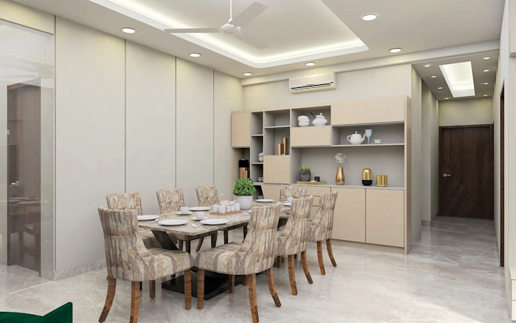 High Society Modern House Tanish Dzignz Modern dining room Beige