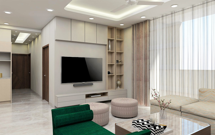 High Society Modern House Modern living room by Tanish Dzignz Modern