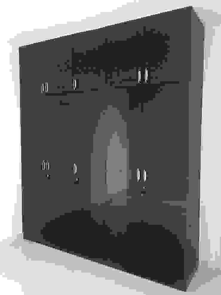 Wardrobe in Black by Hoop Pine Hoop Pine Interior Concepts BedroomWardrobes & closets Plywood Black