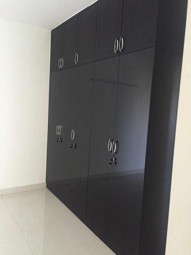 Wardrobe in Black finish: modern  by Hoop Pine Interior Concepts,Modern Plywood