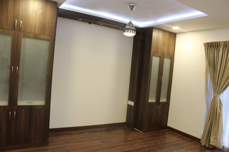 His and Her Wardrobe Hoop Pine Interior Concepts BedroomWardrobes & closets Plywood Brown