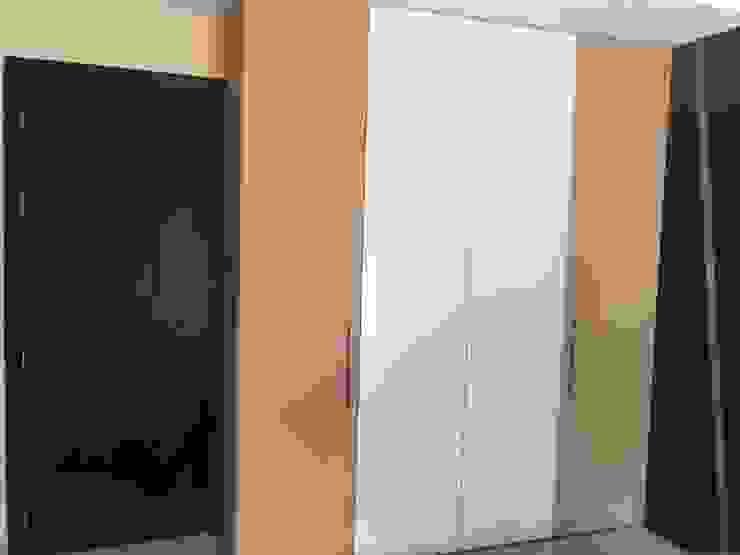 Floor to Ceiling single panel Wardrobe Hoop Pine Interior Concepts BedroomWardrobes & closets Plywood Multicolored