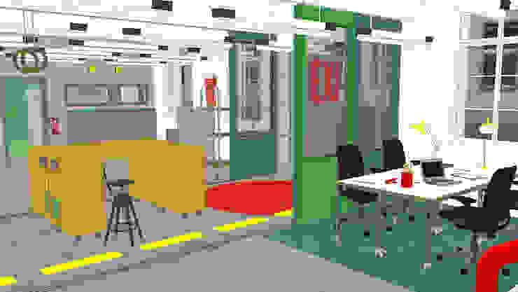 3D VISUALISIERUNG Moderne Bürogebäude von _WERKSTATT FÜR UNBESCHAFFBARES - Innenarchitektur aus Berlin Modern