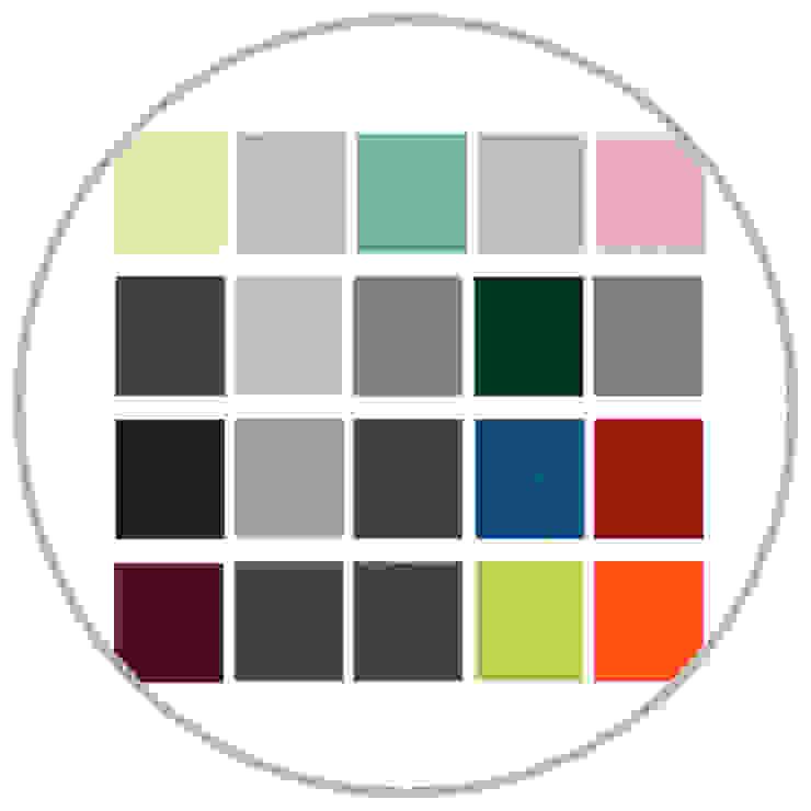 Werkstoff Linoleum ist in vielen Farbtönen erhältlich: modern  von faktor holz,Modern