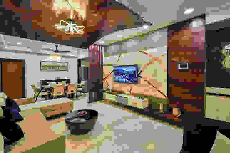 living room:  Living room by AARAYISHH (Mumbai & Pune),Modern