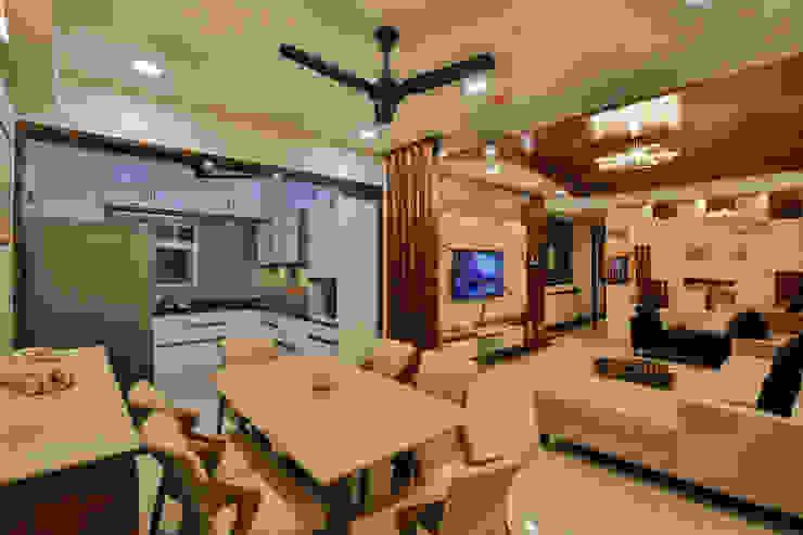 Dining hall:  Dining room by AARAYISHH (Mumbai & Pune),Modern