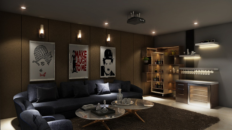 Mini Bar with Sofa Sitting: modern  by Square Arc Interior,Modern
