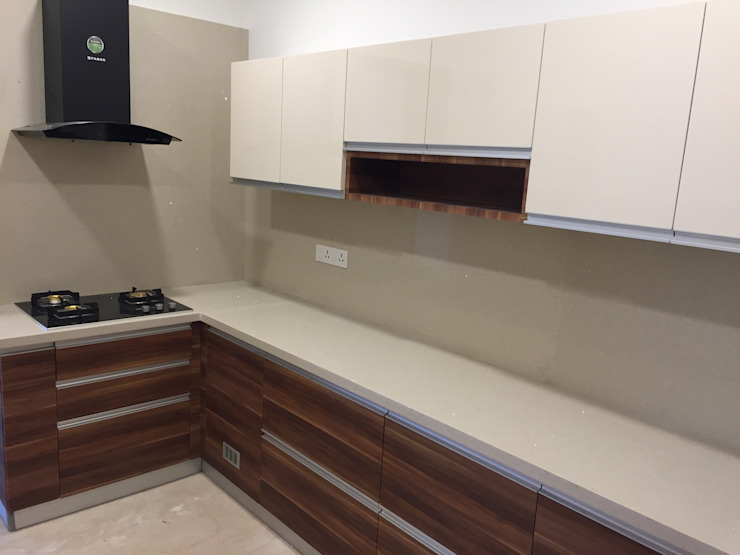 Modular Kitchen in Chennai Hoop Pine Interior Concepts Kitchen units Plywood Multicolored