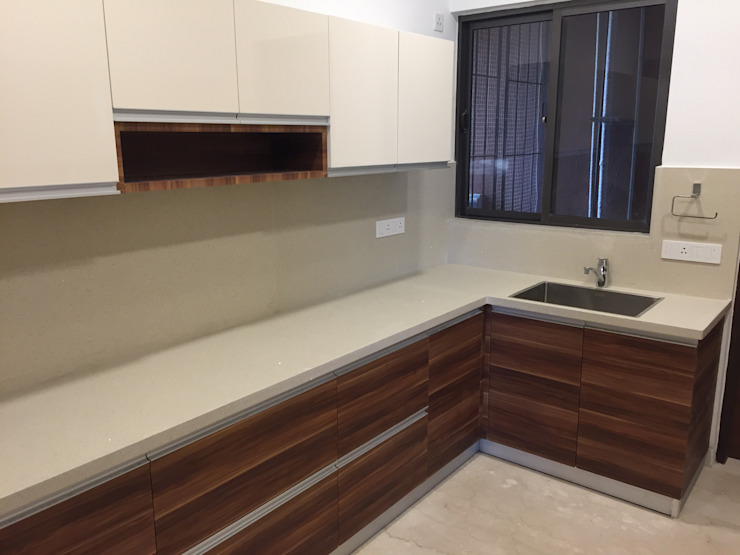 Modular Kitchen in Chennai by Hoop Pine Hoop Pine Interior Concepts Kitchen units Plywood Multicolored