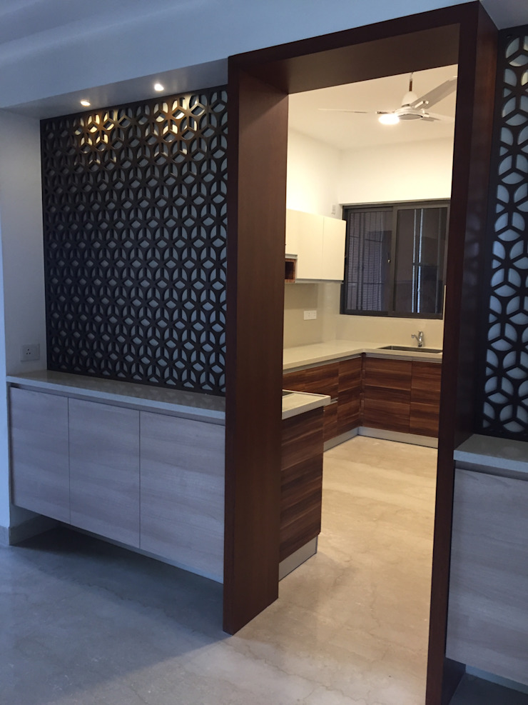 Modular Cabinets at kitchen entrance by Hoop Pine Interior Concepts Eclectic Plywood