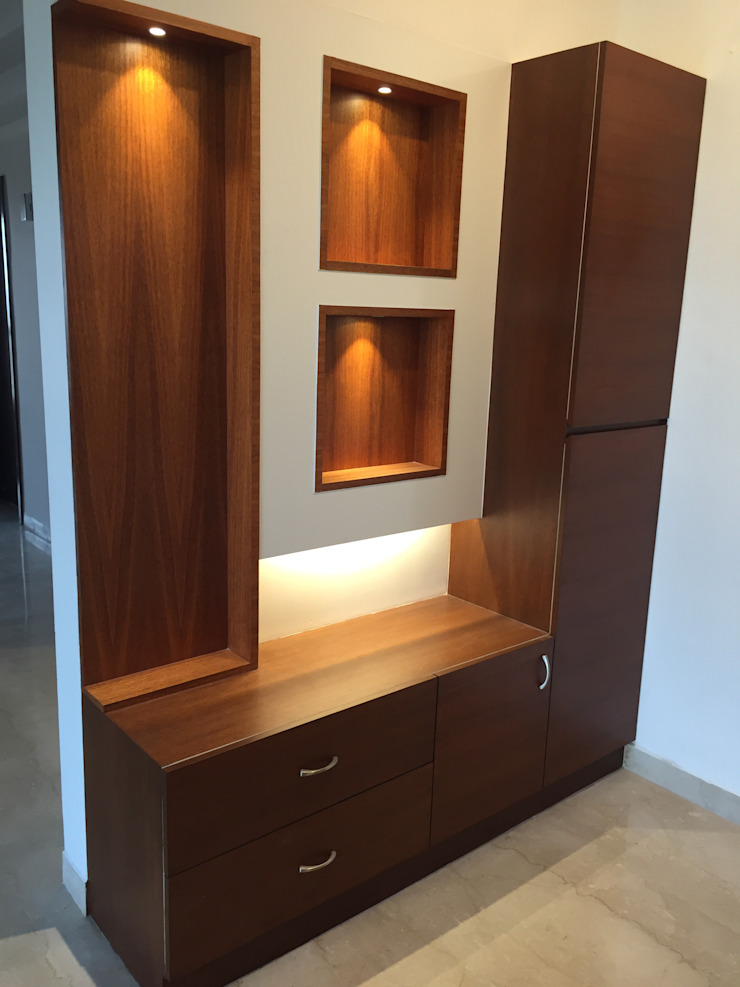 Foyer Unit with lighting: minimalist  by Hoop Pine Interior Concepts,Minimalist Plywood