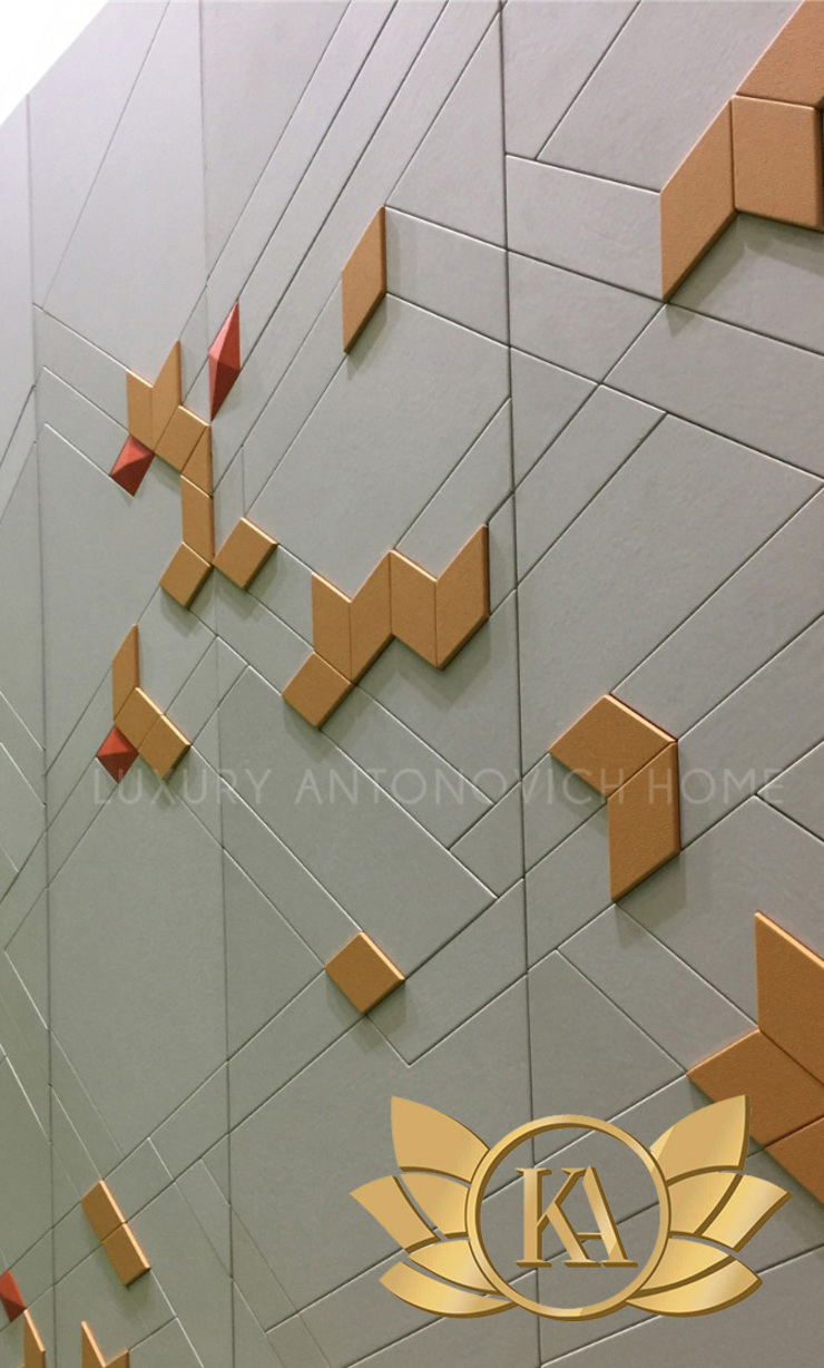 Luxurious Embossed Wall Panels by Luxury Antonovich Design