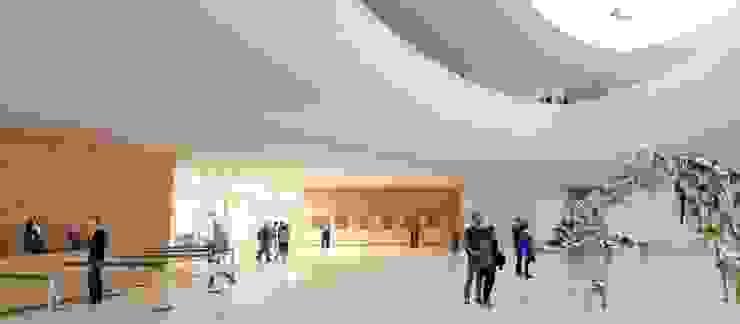 Museo Guggenheim Helsinki AGE/Alejandro Gaona Estudio Museos de estilo escandinavo Derivados de madera Blanco