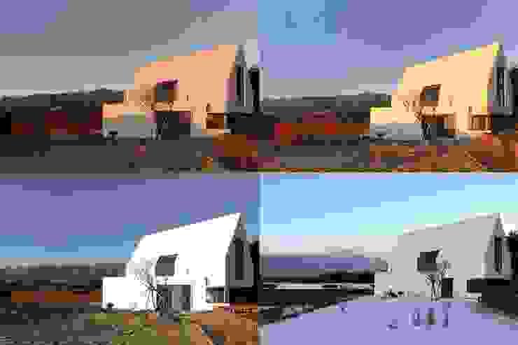 동측전경 / 빛. 색을 품음 미니멀리스트 주택 by AEV Architectures (아으베아키텍쳐스) 미니멀