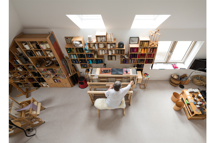 Weaving House Fraher and Findlay Scandinavian style study/office