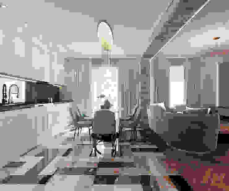 Salas de estilo moderno de Дизайн Студия Аиды Собетовой Moderno