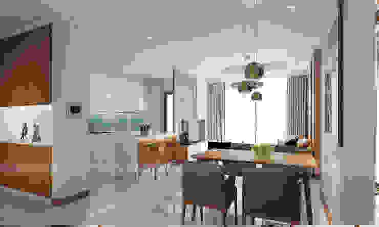 Modern Dining Room by RIKATA DESIGN Modern