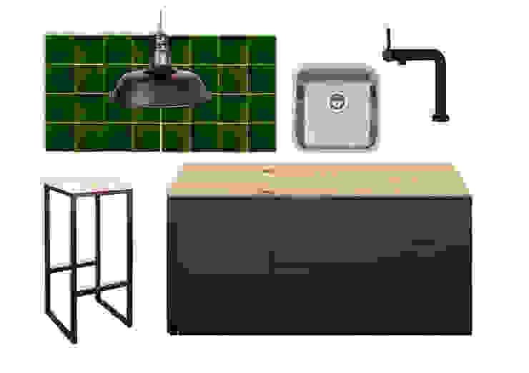 Rafaela Fraga Brás Design de Interiores & Homestyling Car Dealerships Tiles Green
