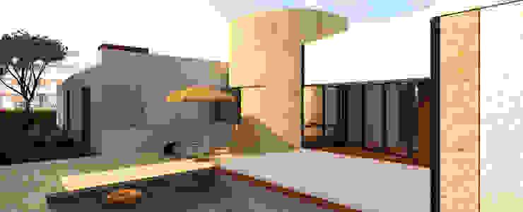 pátio - zona de convívio por Limit Studio Moderno