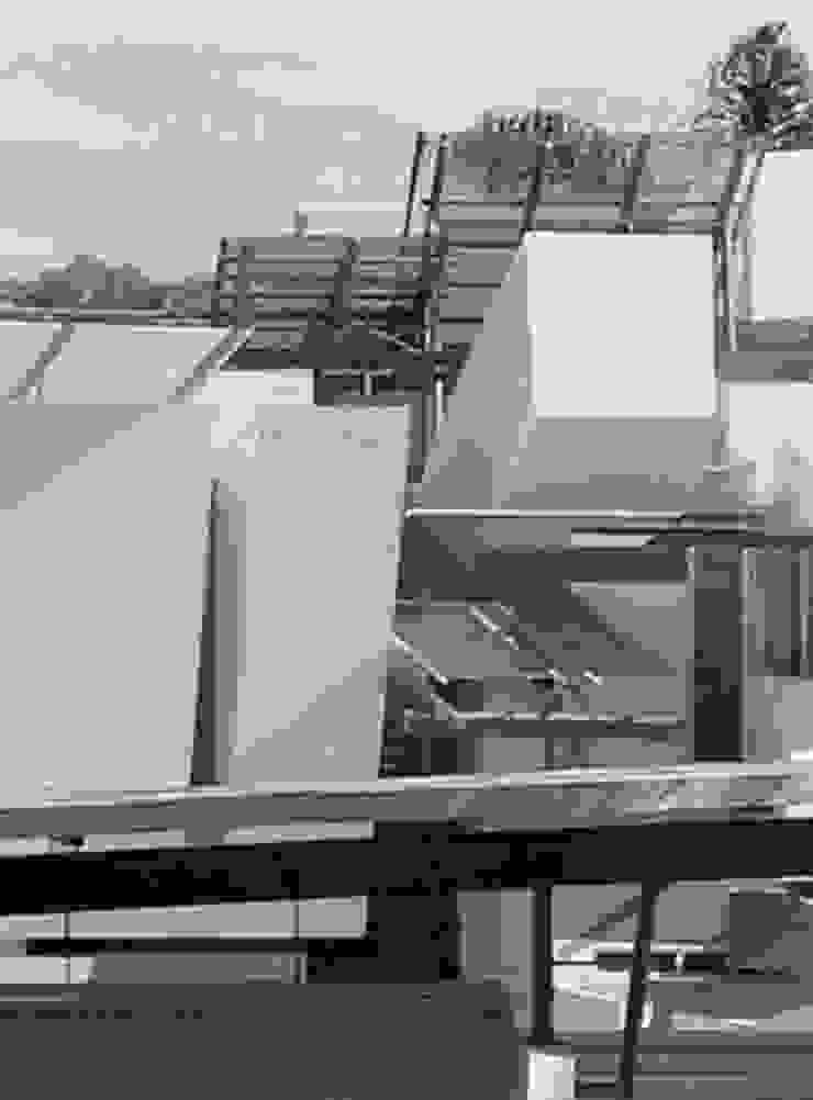 AGE/Alejandro Gaona Estudio Maison individuelle Béton Blanc