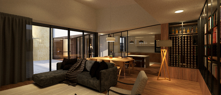 sala de estar Salas de estar modernas por LIMIT studio Moderno