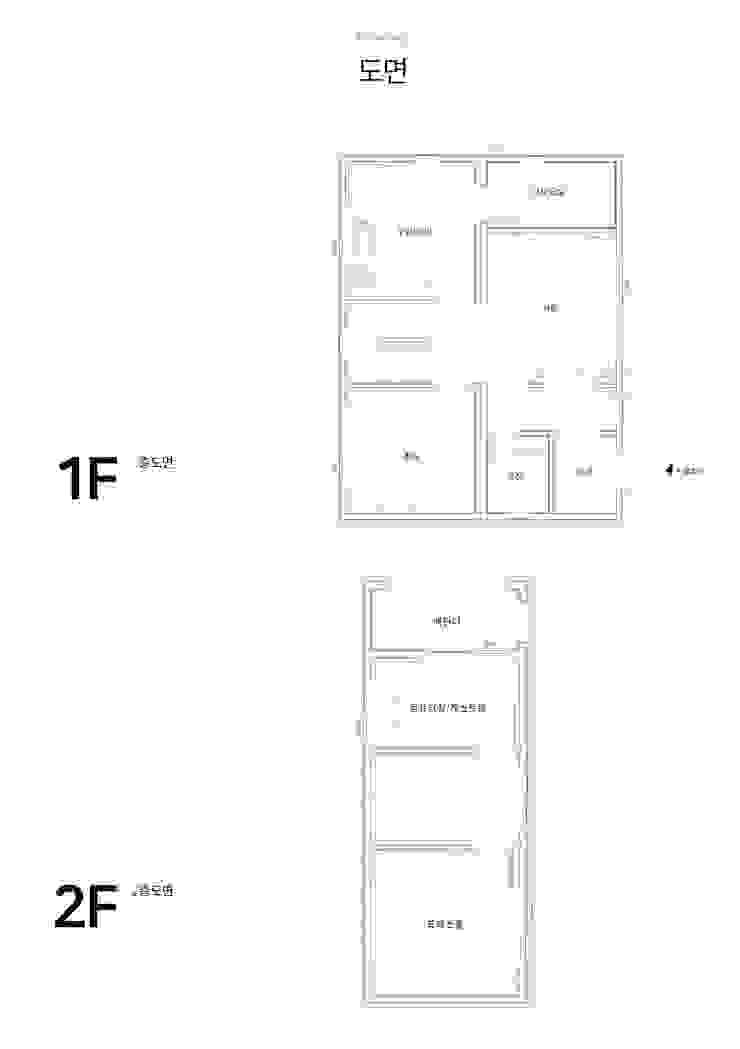 floor plan :: 도면 by 공간제작소(주) 모던