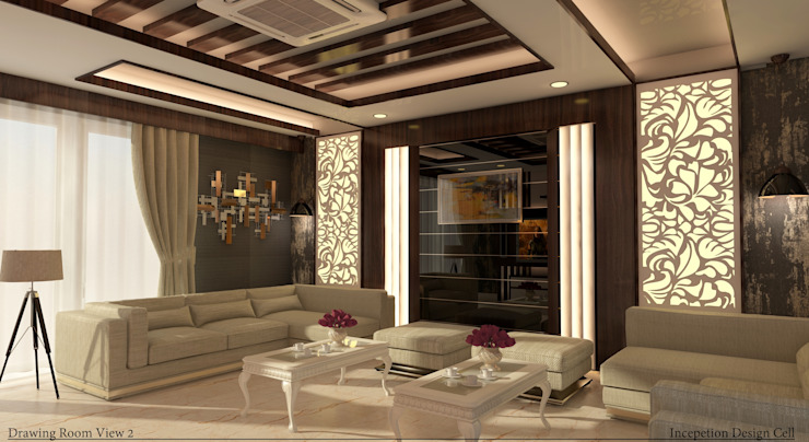 Villa Project Modern living room by Inception Design Cell Modern Marble